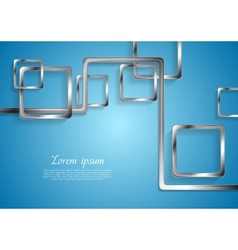 Abstract tech metallic elements vector image vector image