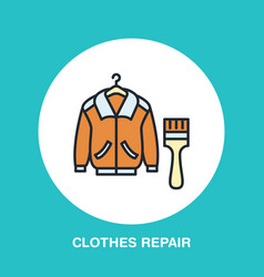 clothing repair line icon logo dry cleaning vector image vector image