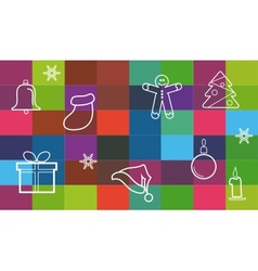 collection of different christmas items christmas vector image vector image