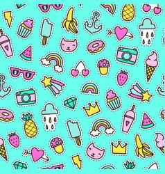 cute pins seamless pattern vector image vector image