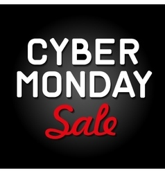 Cyber monday background with sale tag vector