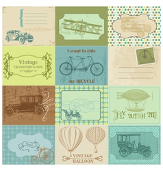 Design Elements - Vintage Transportation vector image vector image