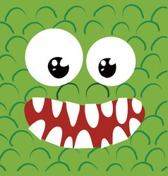 happy monster close up vector image