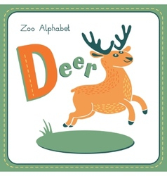 Letter D - Deer vector image vector image