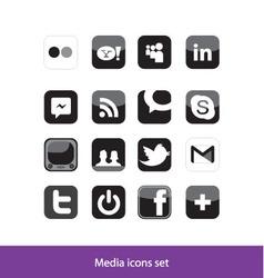 Media Icon set vector image vector image