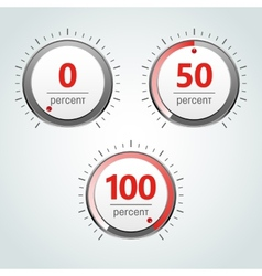 Round Analog Percent Meter vector image vector image