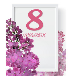 8 march international womens day background with vector image