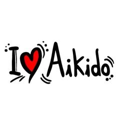Aikido love vector