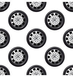 Automobile wheel seamless pattern vector image
