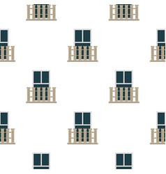 balcony balustrade with window i pattern flat vector image