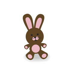 Brown and pink bunny vector