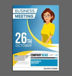 Business meeting poster business woman vector