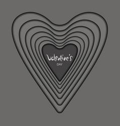 Card heart silver vector