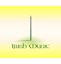 Card with Tin Whistle vector image