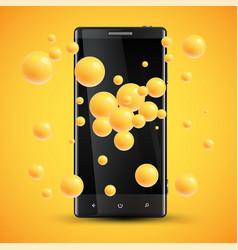 Cellphones enhanced saturation presentation by vector