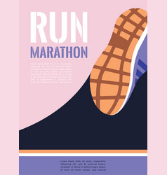 City running marathon athlete runner feet running vector