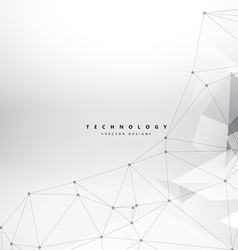 Clean geometrical shapes technology background vector