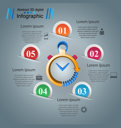 clock alarm - abstract paper infographic vector image