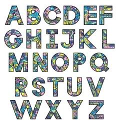Colorful latin alphabet vector image