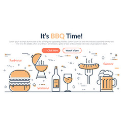 colorful web design in barbecue theme vector image