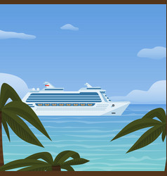 cruise ship vacation sea travel water transport vector image