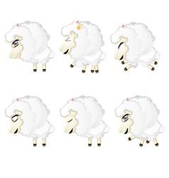 Cute chibi sheep4 vector