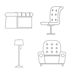 Design of furniture and apartment logo set vector