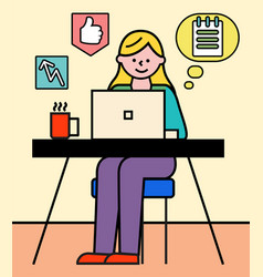 employee working with business consulting vector image