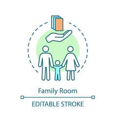 Family room concept icon vector