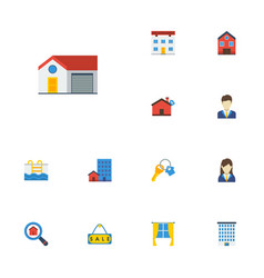 Flat icons sold home trinket and other vector