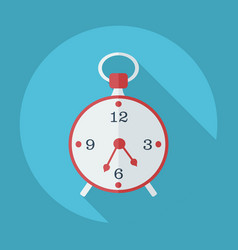 Flat modern design with shadow icon old alarm vector