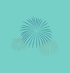 Flat on background of firework vector