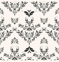flourishes baroque background vector image