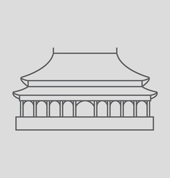 Forbidden city vector