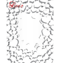Frame with hearts for registration for the text vector