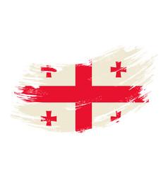 Georgian flag grunge brush background vector