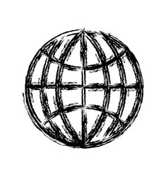 global connection icon vector image