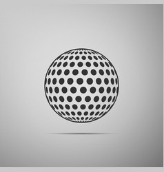 golf ball flat icon on grey background vector image