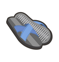 gray male flip-flops vector image