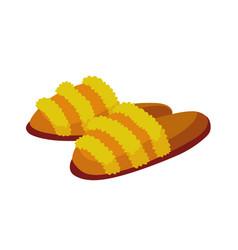 Home footwear slippers soft comfortable slip vector