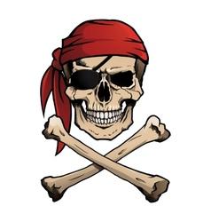Jolly Roger pirate skull and crossbones vector