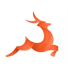 Leaping Deer of the trend gradient vector image