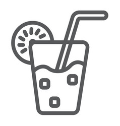lemonade line icon food and drink juice sign vector image