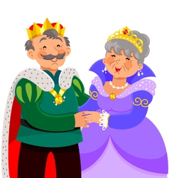 mature king and queen vector image