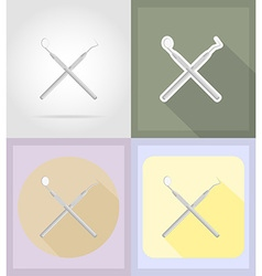 Medical flat icons 14 vector