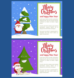 merry christmas and text vector image