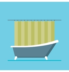 modern shower room with a close curtain vector image