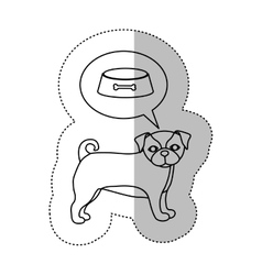 Monochrome contour with middle shadow sticker with vector