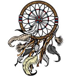 Native indian dreamcatcher vector