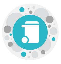 of hygiene symbol on trash can vector image